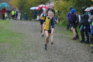 Imogen Gent in the Hampshire League XC at Sparsholt College