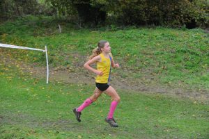 Erin Wells in action in the Hampshire League XC at Sparsholt College