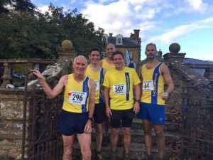 Men's team in the Wessex League XC at Lytchett School