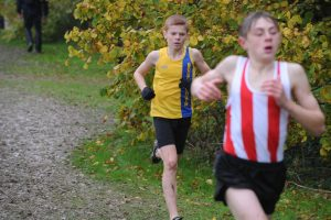 Oscar Ewan Matthews in the Hampshire League XC at Sparsholt College