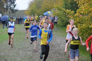Sam Brewer in the Hampshire League XC at Sparsholt College