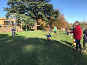 Rich Brawn in action in the Wessex League XC at Lytchett School