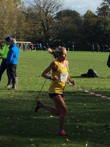 Lisa Elmore in the Wessex League XC at Lytchett School
