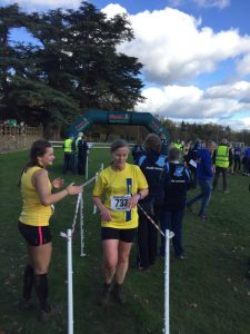 Jayne Wade finishes the Wessex League XC at Lytchett School