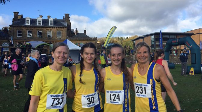Ladies team in the Wessex League XC at Lytchett School