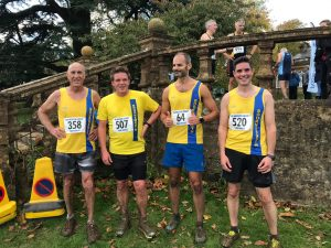 Men's team after the Wessex League XC at Lytchett School