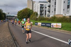 Alison Humphrey in the Great South Run