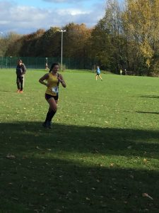 Raluca Basarman in the Wessex League XC at Lytchett School