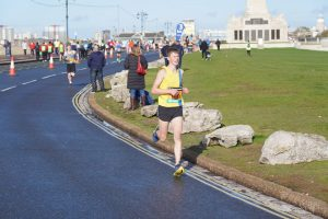 Jasper Todd races round in the Great South Run 5k