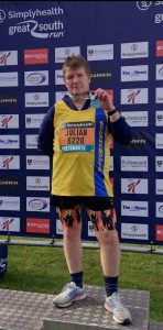 Julian Oxborough after the Great South Run