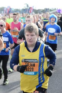 Julian Oxborough in action at the Great South Run