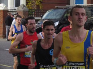 Mitch Griffiths looking controlled in the Great South Run