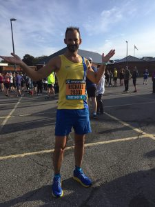Rich Brawn before the Great South Run