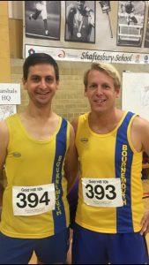 Steve Parsons & Phil Cherrett at the Gold Hill 10k