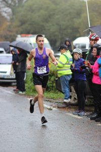 Stu Nicholas leading the way in the Cornish Marathon