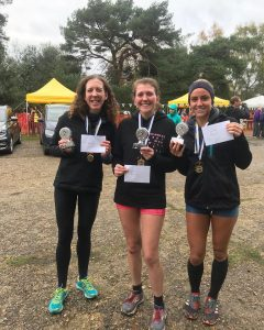 The top three ladies at the New Forest Stinger