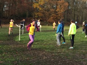 Julia Austin in Hampshire League Cross Country at Aldershot