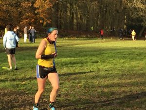 Annette Howard in Hampshire League Cross Country at Aldershot