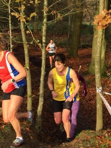 Nikki Sandell in Hampshire League Cross Country at Aldershot