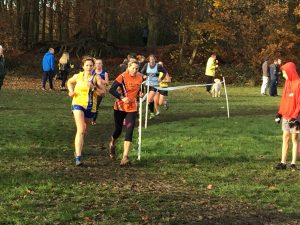 Kirsty Drewett in action at the Hampshire League Cross Country in Aldershot