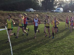Raluca Basarman in full flow at the Hampshire League Cross Country in Aldershot