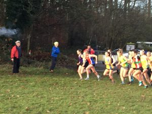 Start of Hampshire League Cross Country at Aldershot