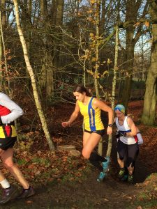 Raluca Basarman in action at the Hampshire League Cross Country in Aldershot
