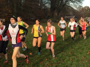 Raluca Basarman in Hampshire League Cross Country at Aldershot