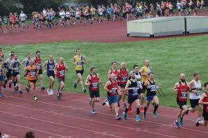 Alex Goulding and Mitch Griffiths in the Boscombe 10k