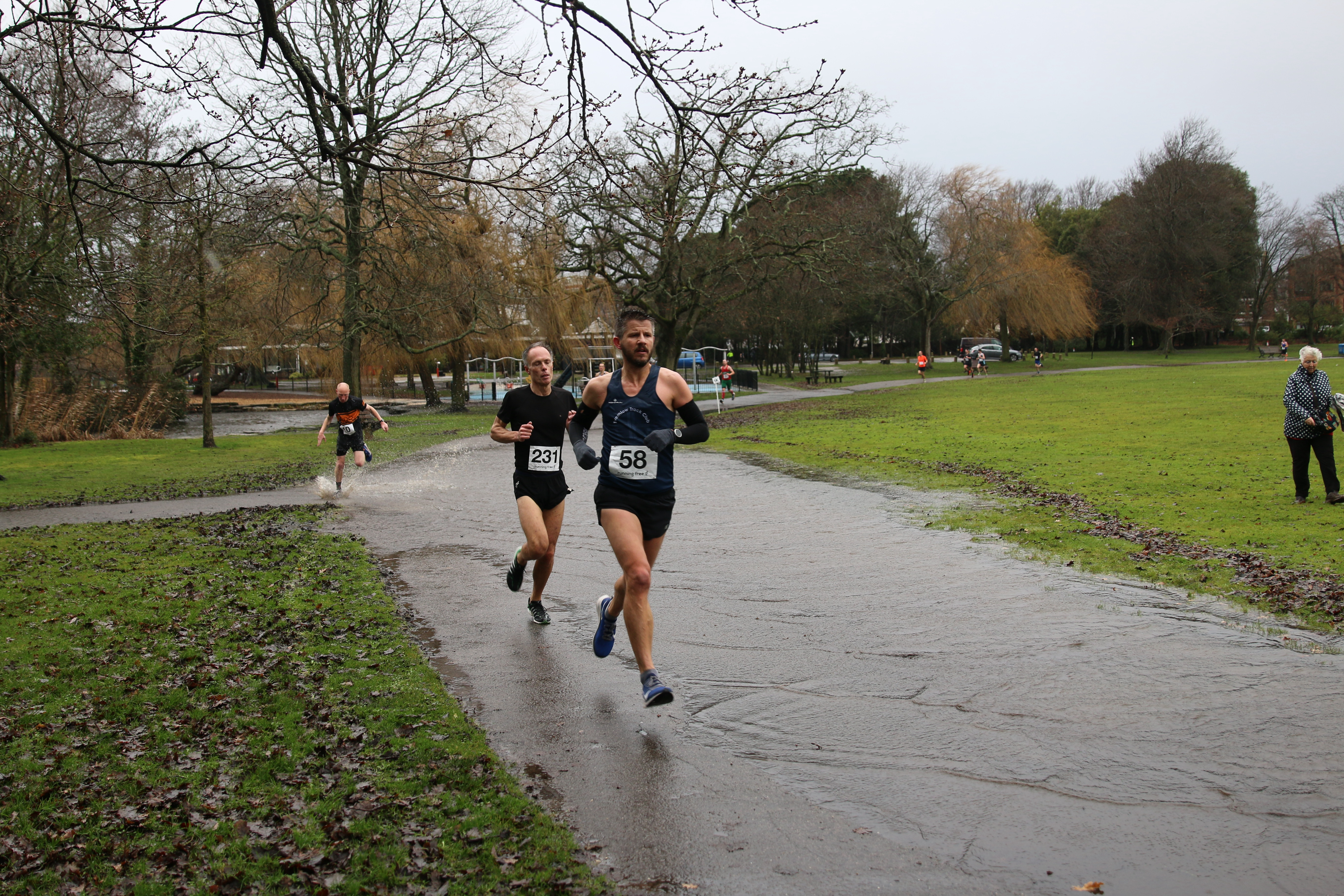 Ant Clark and Andrew Ridley cruise along at Round the Lakes
