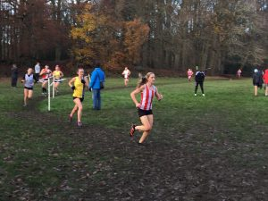 Holly Collier in action at the Hampshire League Cross Country in Aldershot