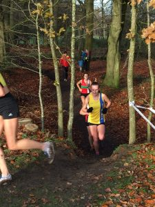 Holly Collier in Hampshire League Cross Country at Aldershot