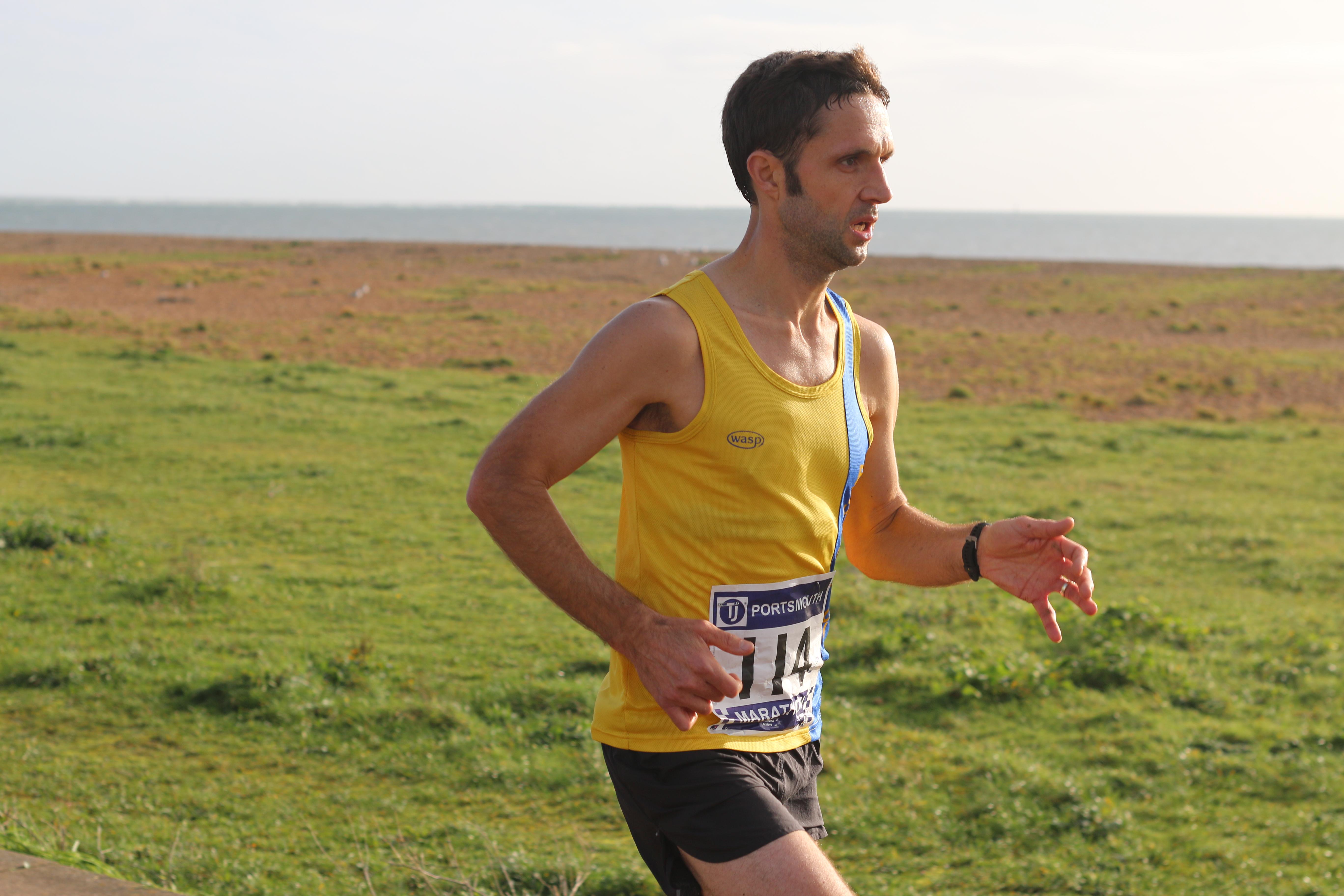 Jez Bragg in the Portsmouth Coastal Marathon