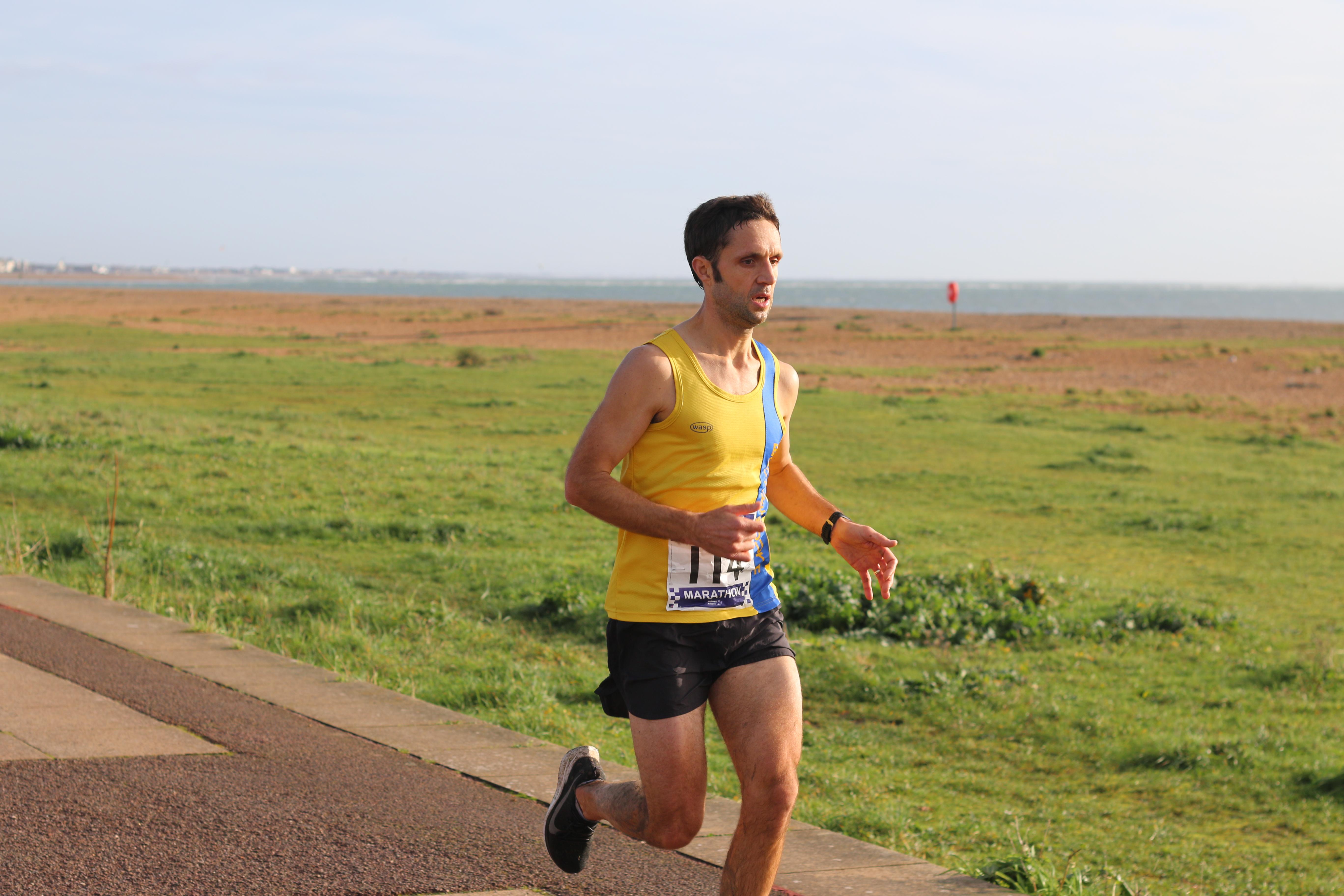 Jez Bragg in action in the Portsmouth Coastal Marathon