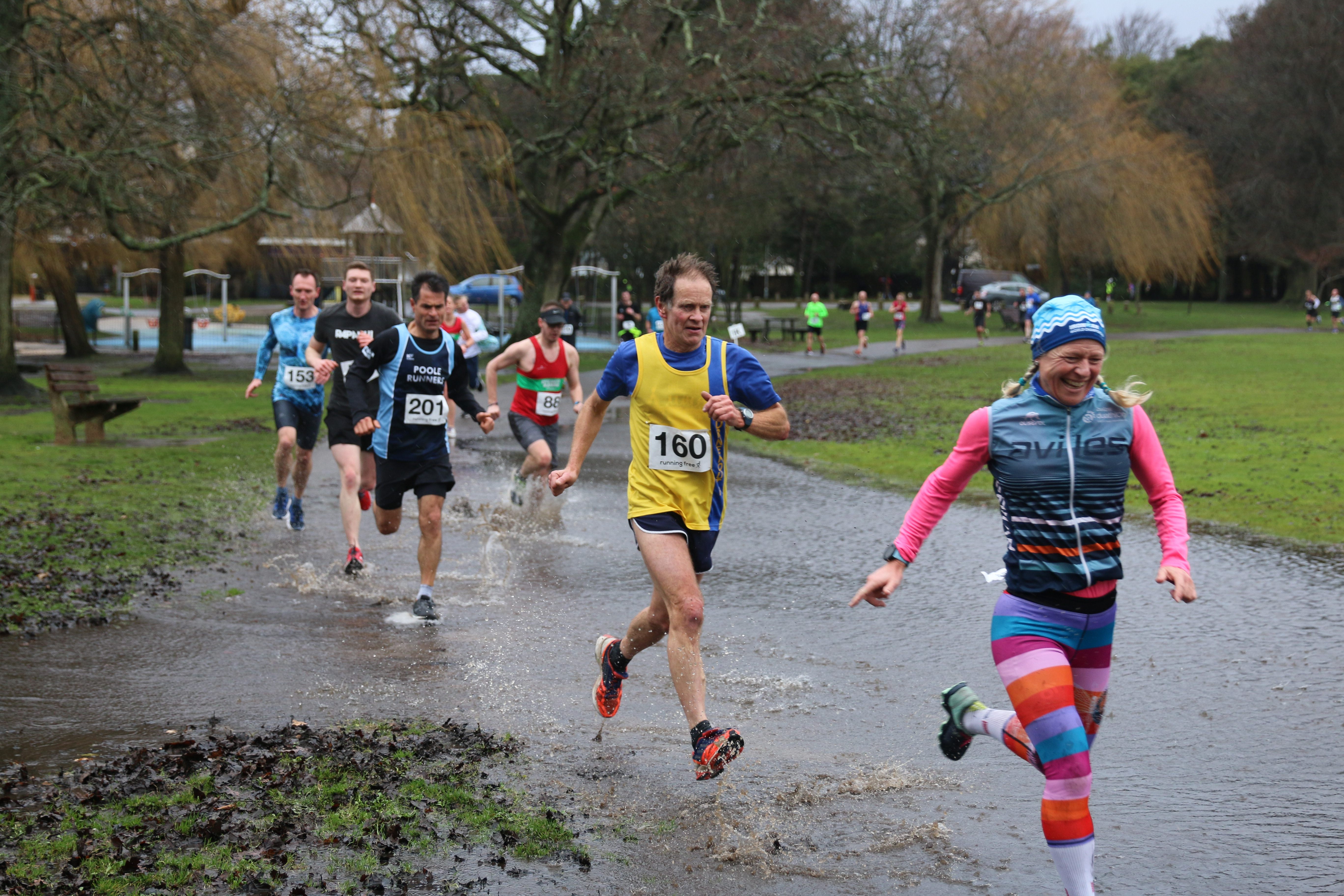 Jud Kirk goes across the water at Round the Lakes
