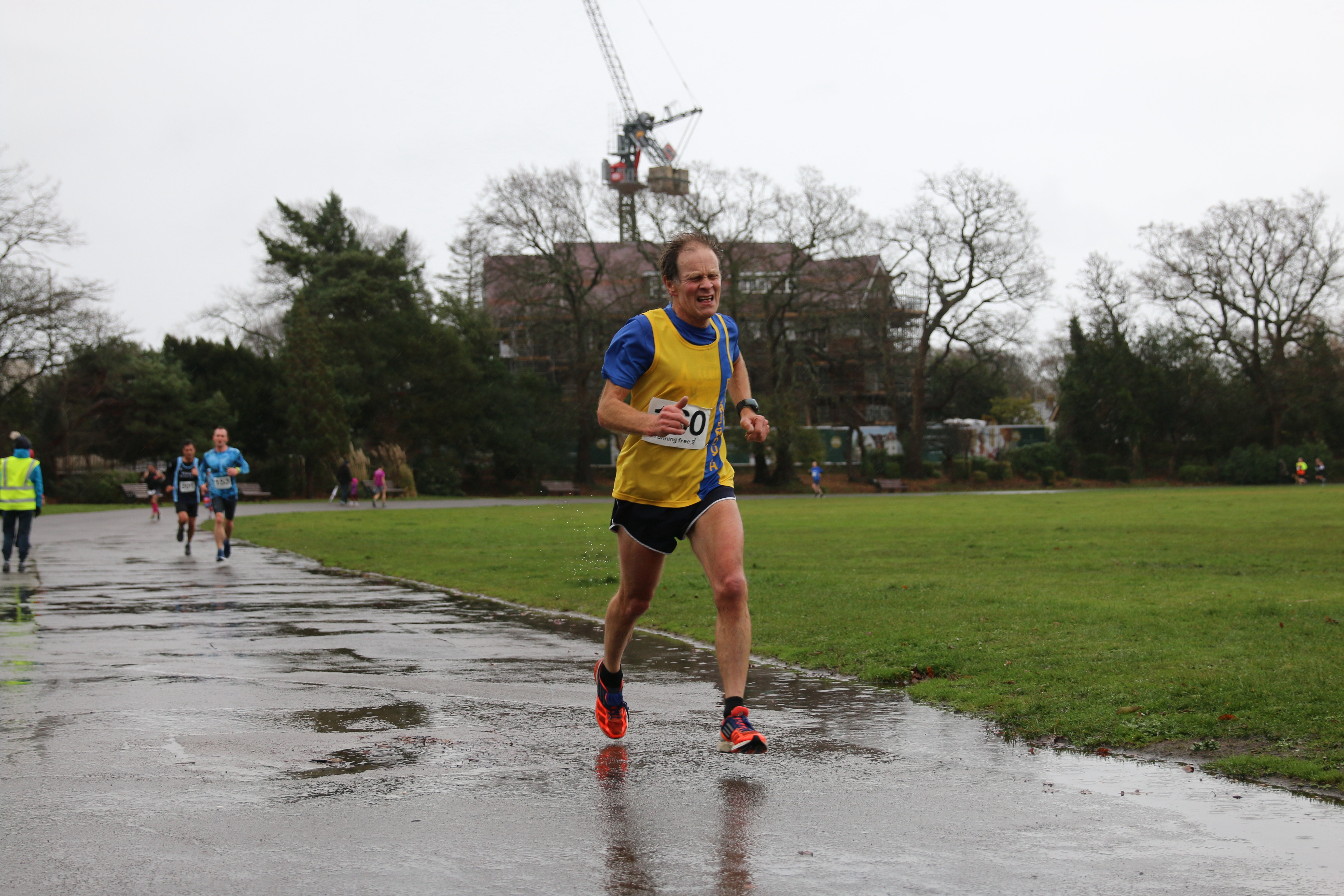 Jud gives it his all at the Round the Lakes 10k