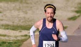 Pete Thompson taking on the Gosport Half Marathon