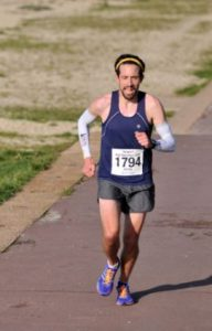 Pete Thompson in the Gosport Half Marathon