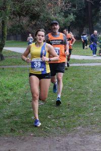 Raluca Basarman in the Boscombe 10k