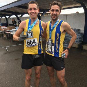 Stu Nicholas and Jez Bragg in the Portsmouth Coastal Marathon