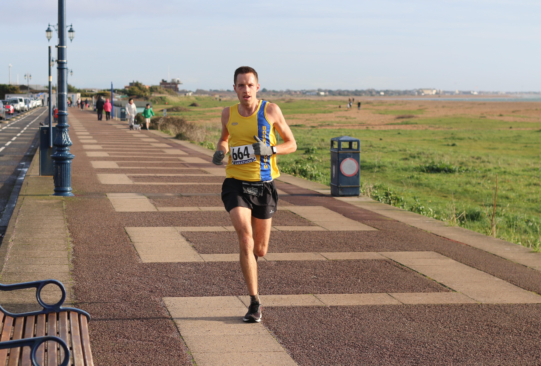 Stu Nicholas in action in the Portsmouth Coastal Marathon