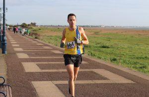 Stu Nicholas in the Portsmouth Coastal Marathon