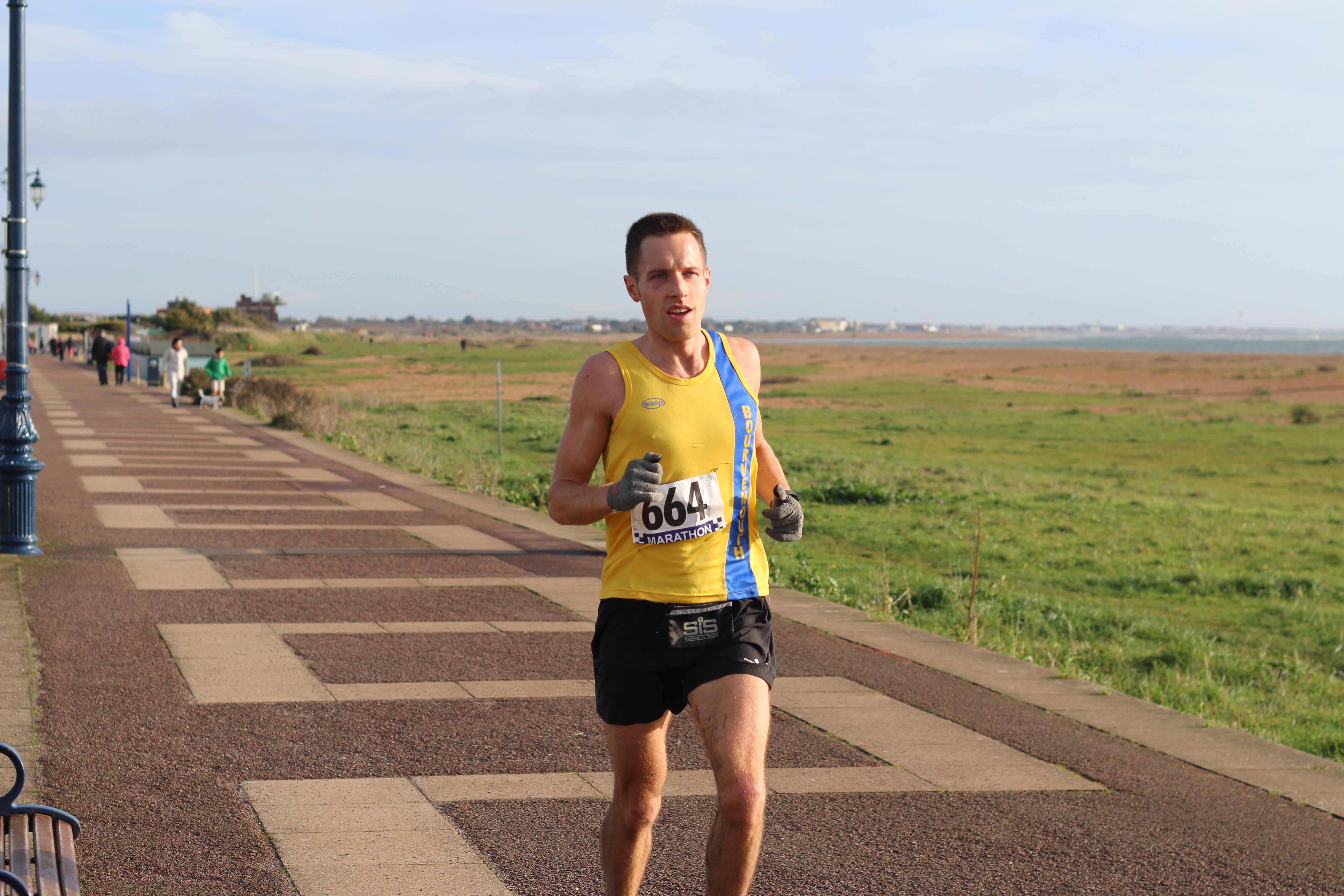 Stu Nicholas makes his way in the Portsmouth Coastal Marathon