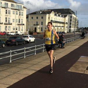 Stu Nicholas comes along the promenade