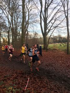 Stu Nicholas in the Hampshire League Cross Country at Aldershot