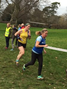 Annette Lewis in the Hants League XC at Prospect Park