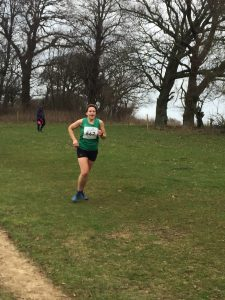 Kirsty Drewett in the South West Cross Country Champs