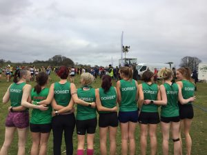Dorset senior women's team at the South West Inter Counties