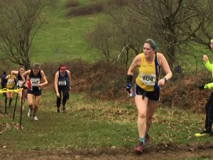 Annette Lewis in the South West Cross Country Champs
