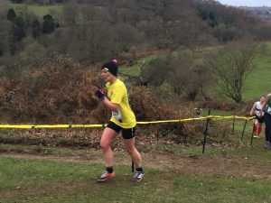 Jayne Wade in the South West Cross Country Champs
